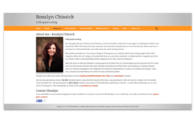 Rosalyn Chissick - Award winning literary novelist