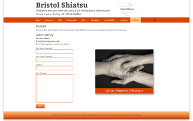 Bristol Shiatsu - Alice Hartley